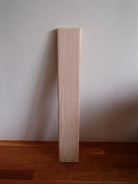 家具耐震固定板,ホワイトアッシュ無垢素材